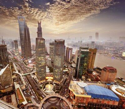 Fototapete Das moderne Gebäude in Shanghai, China.