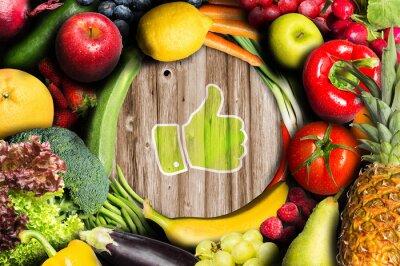 Fototapete Daumen oben für Obst und Gemüse