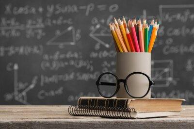 Fototapete Day international school teachers blackboard books brazil