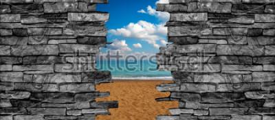 Fototapete Deckenwand-Tapete der Steinwand 3D
