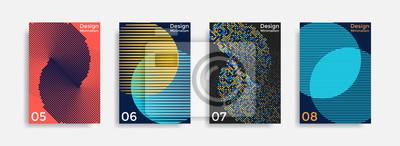 Fototapete Deckt Schablonensammlung mit grafischen geometrischen Formen ab