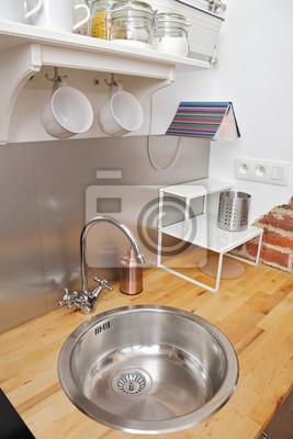 Décoration küche studio appartement fototapete • fototapeten ...