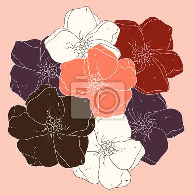 Decorative floral farbigen Hintergrund.