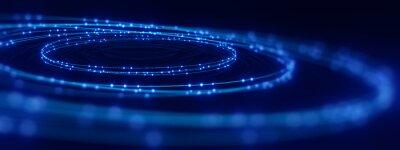 Fototapete defocused image of  fiber optics lights abstract background