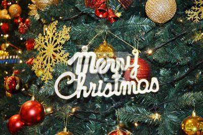 Dekoration Weihnachtsbaum.Fototapete Dekoration An Einem Weihnachtsbaum