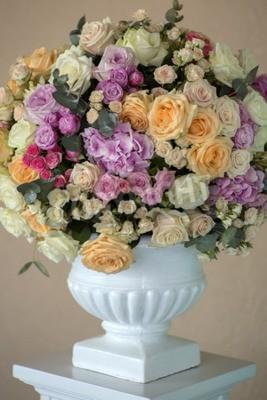 Dekoration Der Hochzeit Bouquet Von Frischen Schonen Blumen Aus