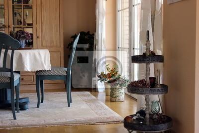 Dekoration Einrichtung Esszimmer Teppich Stuhl Blume Fototapete
