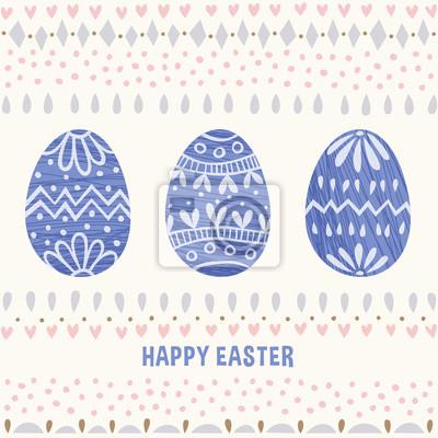 Dekorative Blaue Eier Ostern Karte Fototapete Fototapeten Nubes