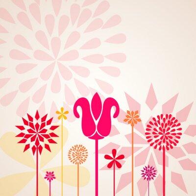 Fototapete Dekorative Blumen