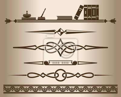 Dekorative Bücher dekorative elemente - bücher. abbildung. fototapete • fototapeten