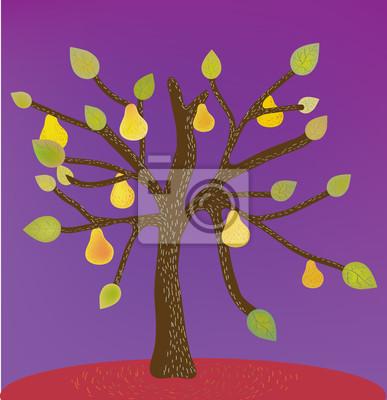 Dekorative Hintergrund mit Birnbaum