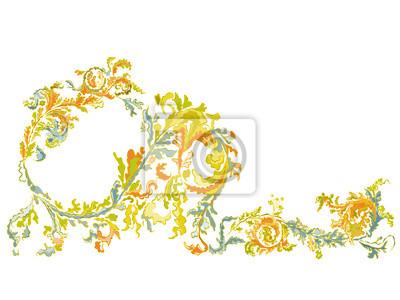 Dekorative Zierblumen klassische Farbe