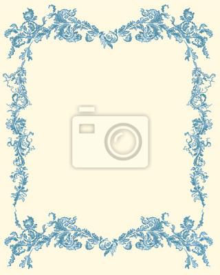 Dekorative Zierblumen Seite blaue Farbe