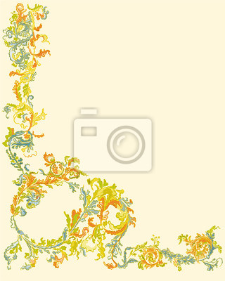 Dekorative Zierblumen Seite klassische Farbe