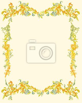 Dekorative Zierblumen Seite klassischem Dekor