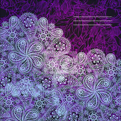 Dekorativer Winter Hand gezeichnet Spitze Schneeflocke Muster.