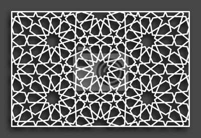 Dekoratives Muster Zum Laserschneiden Vektor Orientalische Art Fototapete Fototapeten Sterne Bau Schablone Myloview De