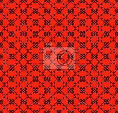 Dekoratives nahtloses muster. schwarze und rote farben. endlose ...