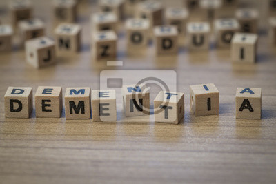 Dementia in Holzwürfel geschrieben
