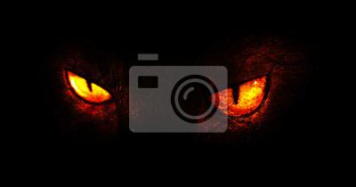 Fototapete Demonic eyes