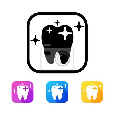 Dental-Symbol im flachen Stil