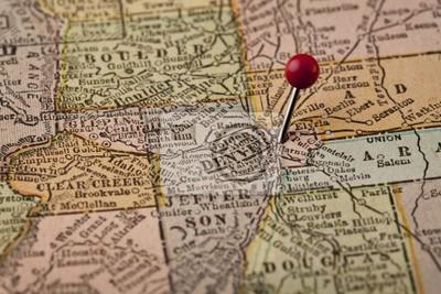 Colorado Karte.Fototapete Denver Und Colorado Zentrale Karte