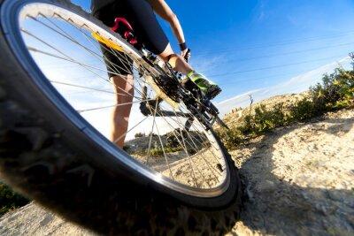 Fototapete Deportes. Bicicleta de montaña y hombre.Deporte en Außen