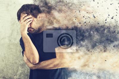 Fototapete Depressed Man Portrait