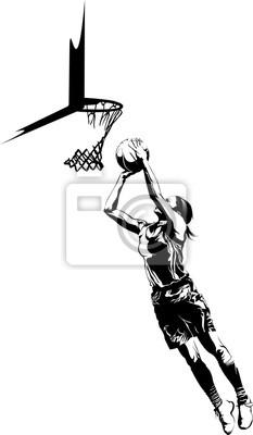 Der Basketball-Layup