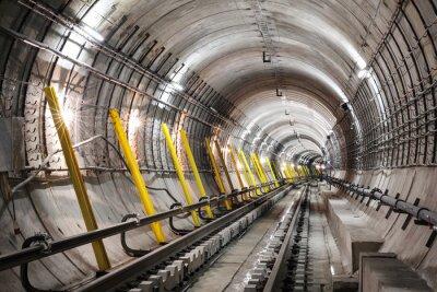 Fototapete Der Bau der U-Bahn-Tunnel
