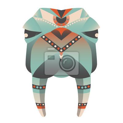 Der Kopf der Walross-Vektor-Illustration. Zusammenfassung Tier, Symbol, drucken, Karte, Logo. Isoliert auf weißem Hintergrund