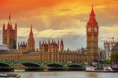 Fototapete Der Palast von Westminster