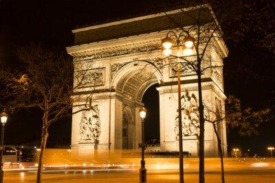 Fototapete Der Triumphbogen bei Nacht, Paris, Frankreich.