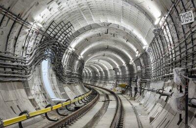 Fototapete Der U-Bahn-Tunnel