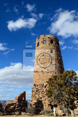 Desert View Watchtower In Grand Canyon South Rim In Arizona