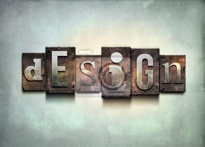 Design-Buchdruck.