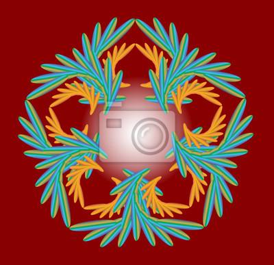 Design-Elemente auf rotem Hintergrund