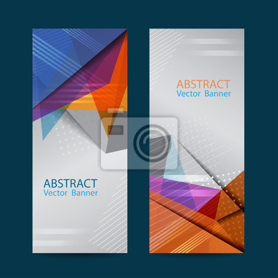 Design-Fahnenschablone des Vektors abstrakte Vektorabbildung