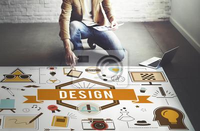 Fototapete Design Kreative Ideen Modell Planung Skizze Konzept