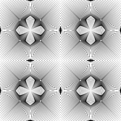 Fototapete Design nahtlose monochrome geometrische Muster