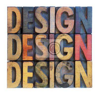 Design Wort abstrakte Typografie