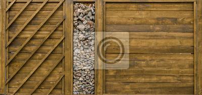Fototapete Design Zaun Aus Stein Und Holz
