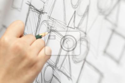 Fototapete Designer kritzeln