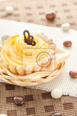 Dessert Susse Sahne Kuchen Pralinen Fototapete Fototapeten Serviert