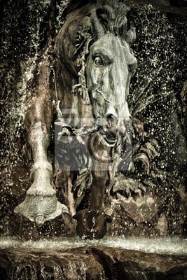 Détail cheval fontaine Ort des Terreaux Lyon
