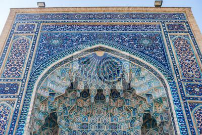 Fototapete Detail Der Fliesen Dekoration Des Gur E Amir Mausoleums, Das  Grab Von