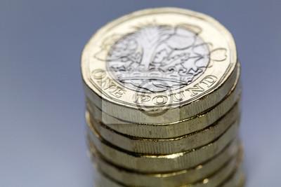 Fototapete Detail Einer Britischen 1 Pfund Münze Die Neue 2017 Bimetall Münze