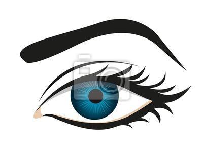 detaillierte Wimpern und Augenbrauen