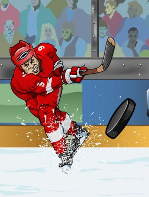 Fototapete Detroit Eishockeyspieler.