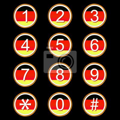 Deutsch Nummern Symbolen